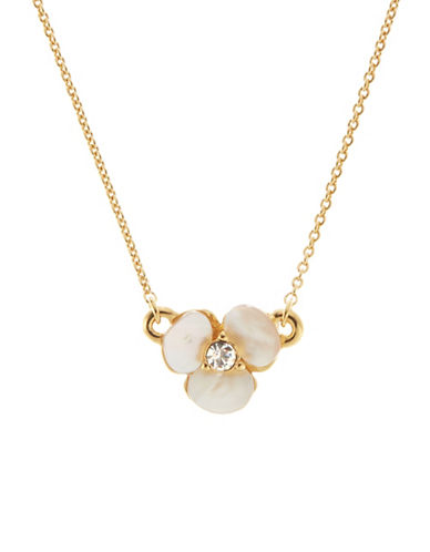 Kate Spade New York Disco Pansy Mini Pendant-CREAM-One Size