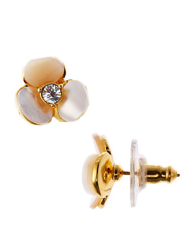 Kate Spade New York Disco Pansy Studs-CREAM-One Size