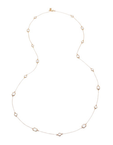 Kate Spade New York Opening Night Rhinestone Necklace-CLEAR/GOLD-One Size