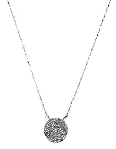 Lucky Brand Pave Necklace-SILVER-One Size