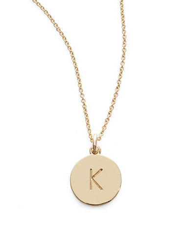 Kate Spade New York One in A Million Pendant Letter Necklace-K-One Size