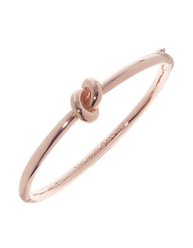 Kate Spade New York Sailors Knot Hinged Bangle-ROSE GOLD-One Size