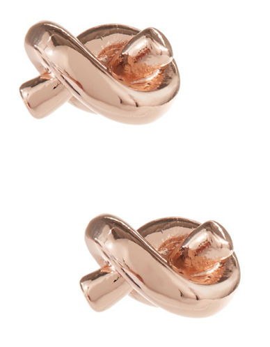 Kate Spade New York Sailors Knot Stud Earrings-ROSE GOLD-One Size