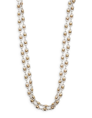 Lucky Brand Two-Tone Double Layer Necklace-TWO-TONE-One Size