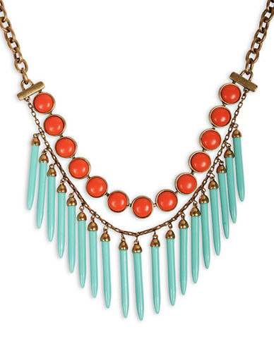 LUCKY BRAND Lucky Brand Necklace, Gold-Tone Spikey Collar Necklace - BLUE