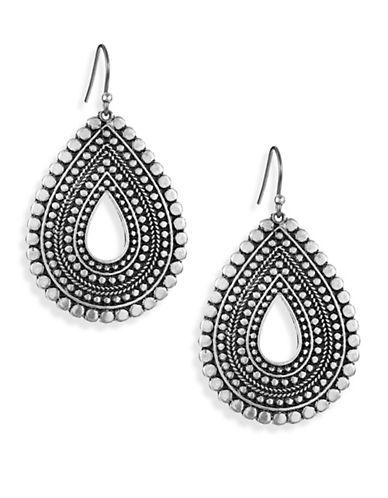Lucky Brand Teardrop Drop Earrings-SILVER-One Size