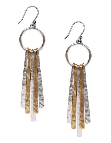 Lucky Brand Lucky Brand Earrings  Silver-Gold-Tone Metal Paddle Earrings-TWO TONE-One Size