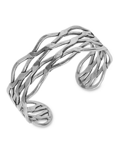 Lucky Brand Lucky Brand Bracelet Silver-Tone Twisted Metal Cuff Bracelet-SILVER-One Size