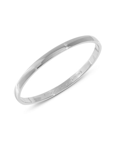 Kate Spade New York Find the Silver Lining Idiom Bracelet-SILVER-One Size