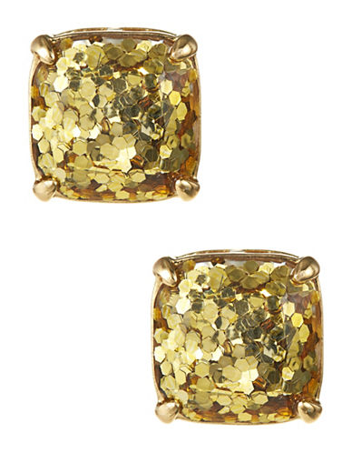 Kate Spade New York Square Glitter Stud Earrings-GOLD-One Size