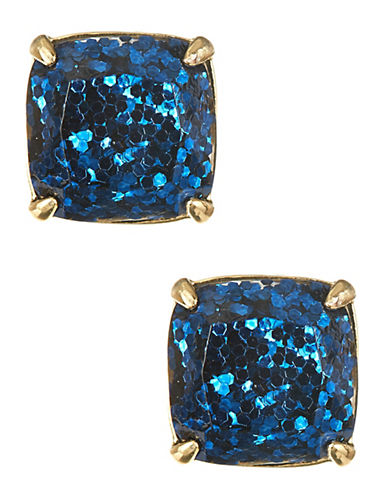 Kate Spade New York Square Glitter Stud Earrings-BLUE-One Size