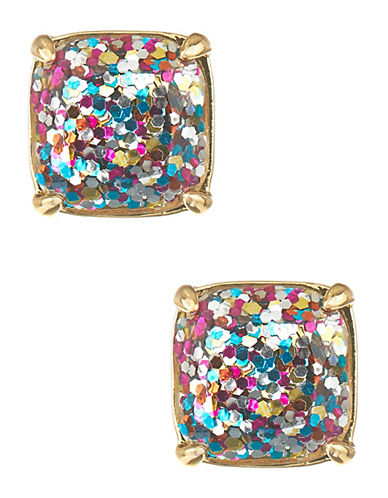 Kate Spade New York Square Glitter Stud Earrings-MULTI COLOURED-One Size