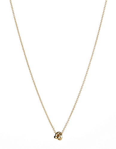 Kate Spade New York Knot Pendant Necklace-GOLD-One Size