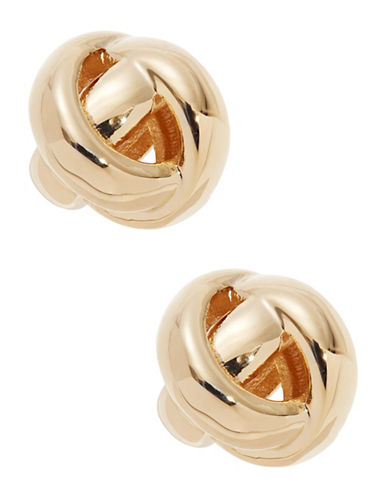 Kate Spade New York Dainty Sparklers Knot Earrings-GOLD-One Size
