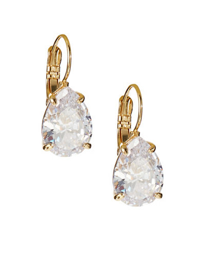 Kate Spade New York Teardrop Stone Earrings-CLEAR-One Size