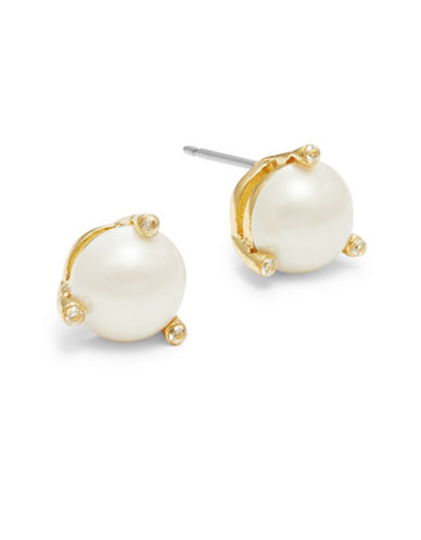 Kate Spade New York Rise and Shine Faux Pearl Stud Earrings-CREAM-One Size