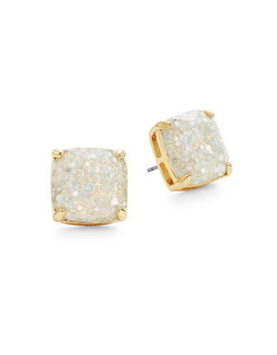 Kate Spade New York Glitter Square Studs-OPAL-One Size