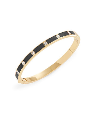 Kate Spade New York Enamel Stone Hinged Bracelet-BLACK-One Size