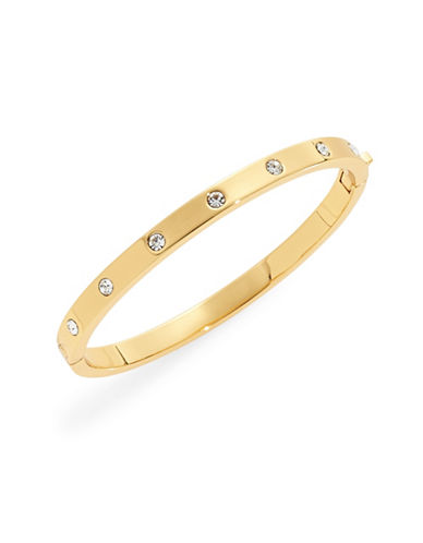 Kate Spade New York Goldtone Stone Hinged Bracelet-GOLD-One Size