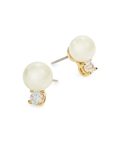 Kate Spade New York Pearls of Wisdom Stud Earrings-CREAM-One Size