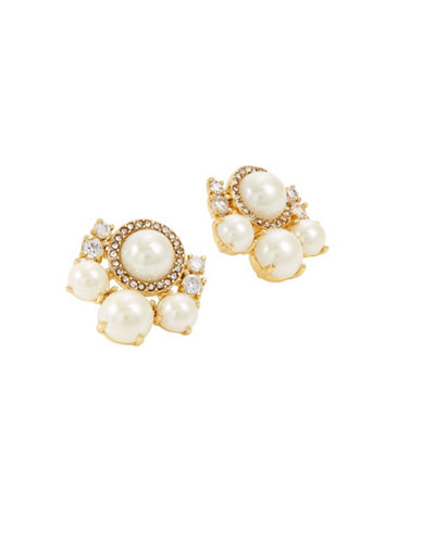 Kate Spade New York Pearls of Wisdom Cluster Stud Earrings-CREAM-One Size