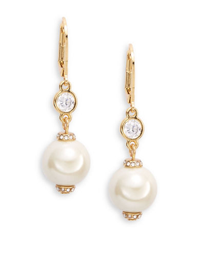 Kate Spade New York Simulated Faux Pearl Drop Earrings-CREAM-One Size
