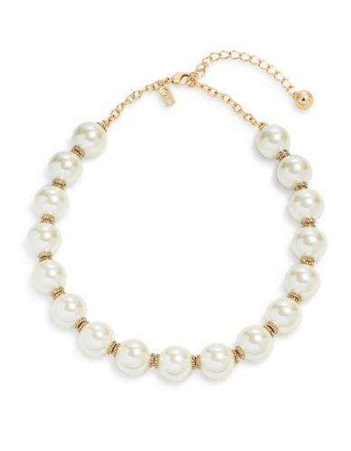 Kate Spade New York Pearls of Wisdom Strand Necklace-CREAM-One Size