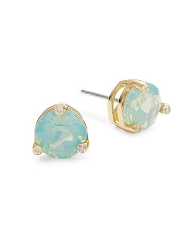 Kate Spade New York Rise and Shine Faceted Stud Earrings-GREEN-One Size