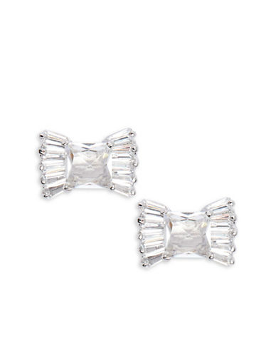 Kate Spade New York Le Soir Bow Stud Earrings-SILVER-One Size