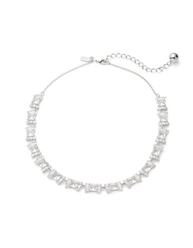 Kate Spade New York Le Soir Crystal Bow Necklace-SILVER-One Size