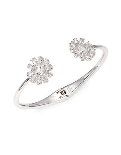 Kate Spade New York Floral Hinge Cuff Bracelet-SILVER-One Size