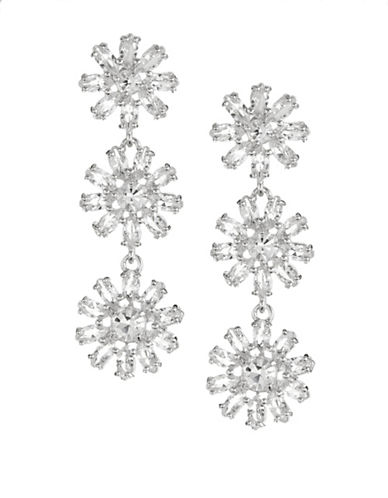Kate Spade New York Crystal Gardens Linear Earrings-SILVER-One Size