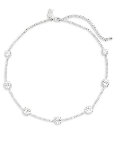 Kate Spade New York Clink of Ice Long Scattered Necklace-SILVER-One Size