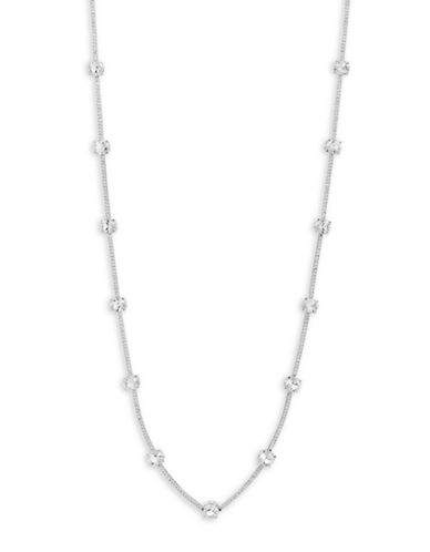 Kate Spade New York Clink of Ice Short Scattered Necklace-SILVER-One Size