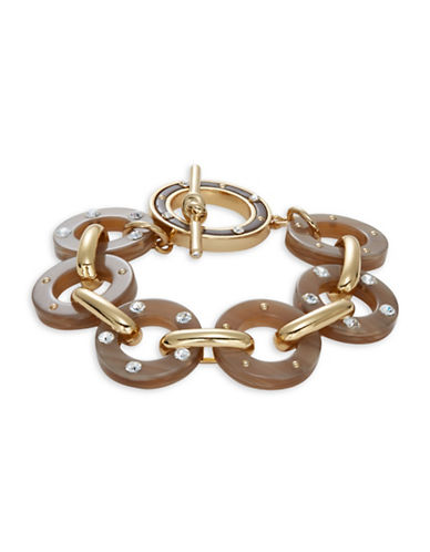 Kate Spade New York Out of Her Shell Tortoise Shell Toggle Bracelet-BROWN-One Size