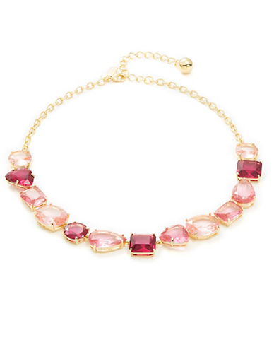 Kate Spade New York Faceted Crystal Necklace-PINK-One Size 88716720_PINK_One Size