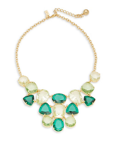 Kate Spade New York Vegas Jewels Statement Necklace-EMERALD-One Size