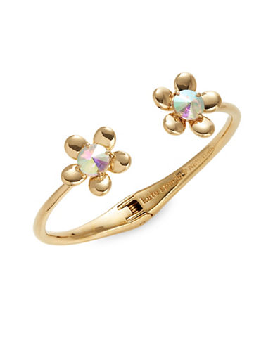 Kate Spade New York Sunset Blooms Hinged Cuff Bracelet-GOLD-One Size