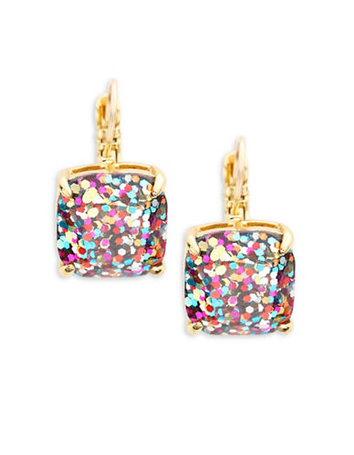 Kate Spade New York Small Square Glitter Leverback Earrings-GLITTER-One Size