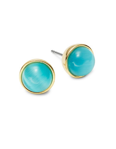 Kate Spade New York Forever Gems Circle Stone Stud Earrings-TURQUOISE-One Size