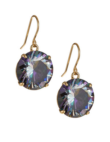 Kate Spade New York Shine On French Wire Drop Earrings-BLACK-One Size