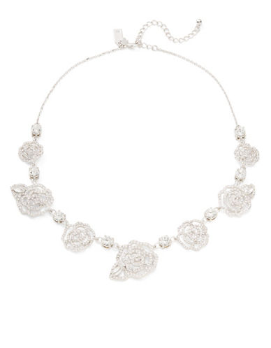 Kate Spade New York ?Crystal Rose Collar Necklace-SILVER-One Size