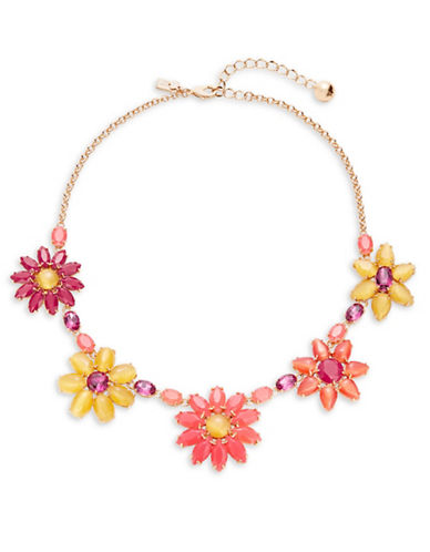 Kate Spade New York Brilliant Bouquet Necklace-PINK-One Size