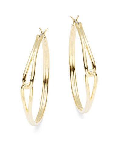 Kate Spade New York Get Connected Large Hoop Earrings-GOLD-One Size