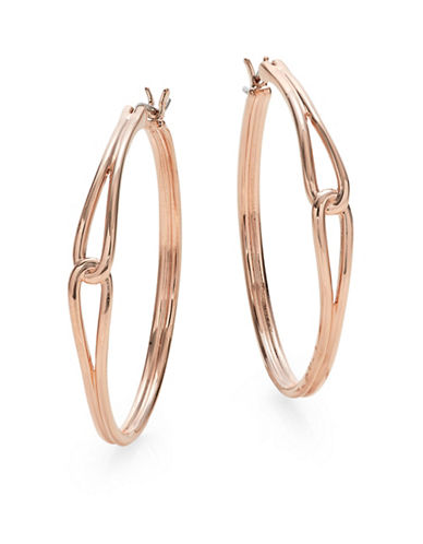 Kate Spade New York Get Connected Large Hoop Earrings-ROSE GOLD-One Size