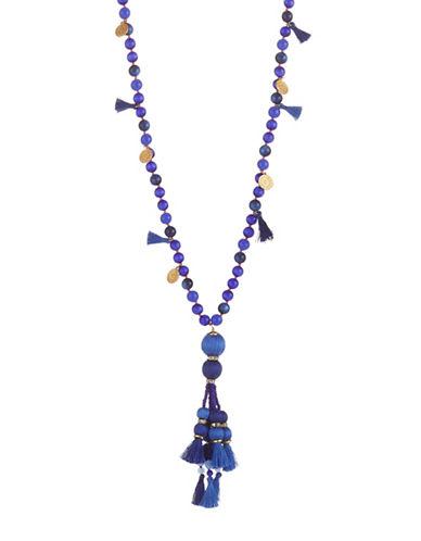 Kate Spade New York Pretty Poms Tassel Pendant Necklace-BLUE-One Size