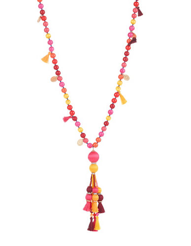 Kate Spade New York Pretty Poms Tassel Pendant Necklace-MULTI-One Size