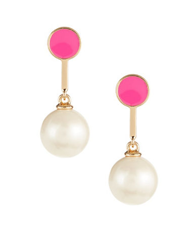 Kate Spade New York Shine On Bead Drop Earrings-PINK-One Size