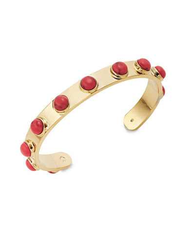 Kate Spade New York Tag Along Cuff Bracelet-RED-One Size