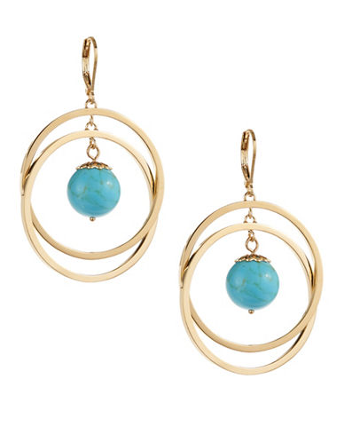 Kate Spade New York Start a Movement Orbital Drop Earrings-TURQUOISE-One Size